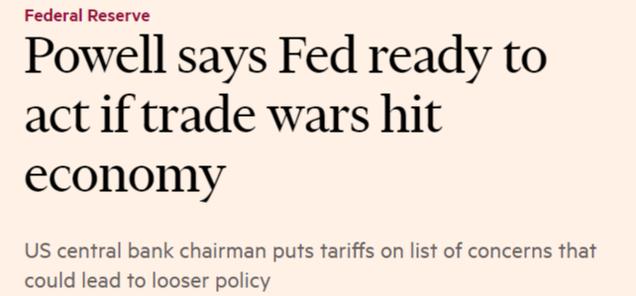 Titular del Financial Times el día 5 de junio de 2019