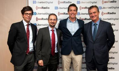 Hugo Ferrer de inBestia - Ferrer Invest y Luis Rodríguez, Manuel Llamas y Luis Fernando Quintero de Libertad Digital